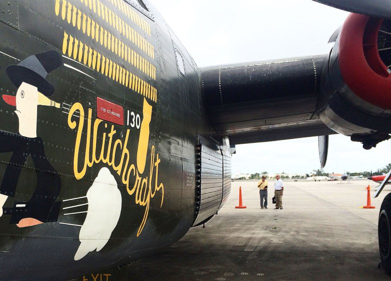 """A B-24J """"Witchcraft"""" WWII fighter plane on display during the Collings Foundation Wings of Freedom Tour. (Photo/Katie Egan)"""